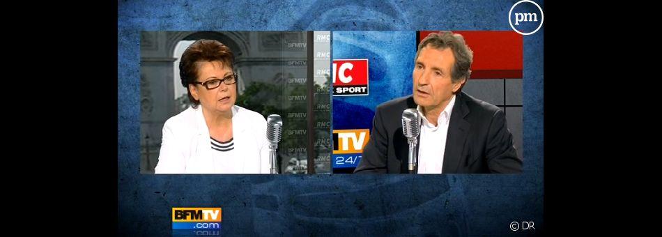 Christine Boutin invitée de Jean-Jacques Bourdin, le 24 juin 2011 sur BFM TV