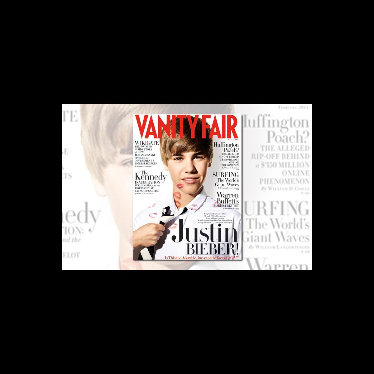 justin bieber fait plonger les ventes de vanity fair puremedias. Black Bedroom Furniture Sets. Home Design Ideas
