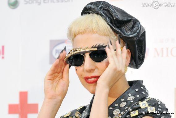 Lady Gaga lors d'une conférence de presse MTV au Japon, juin 2011