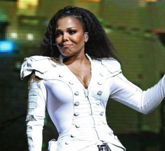 Janet Jackson sur la scène de l'Olympia à Paris en juin...