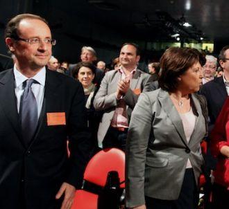 François Hollande, Martine Aubry et Ségolène Royal, en...
