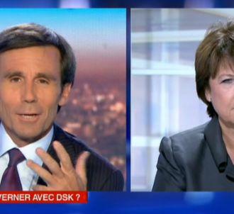 David Pujadas et Martine Aubry.