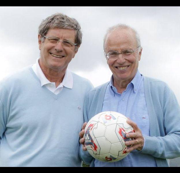 Jean-Michel Larqué et Thierry Roland