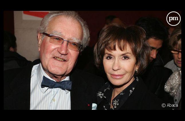Georges Fillioud et son épouse Danièle Evenou, en 2005