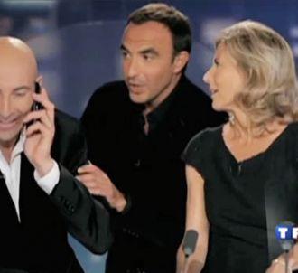 Nicolas Canteloup entouré de Claire Chazal et Nikos...