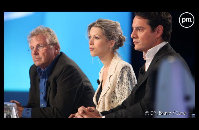 Tristane Banon et son avocat sur le plateau du Grand Journal de Canal + le 19 septembre 2011.