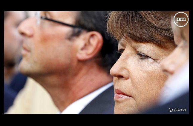 Martine Aubry et François Hollande, le 16 octobre 2011.