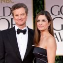 Colin Firth sur le tapis rouge des Golden Globes 2012