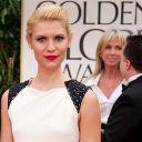 Claire Danes sur le tapis rouge des Golden Globes 2012