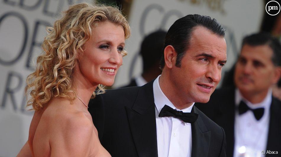 Alexandra Lamy et Jean Dujardin sur le tapis rouge des Golden Globes 2012