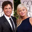 Rob Lowe et sa femme Cheryl sur le tapis rouge des Golden Globes 2012