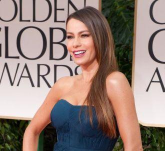 Sofia Vergara sur le tapis rouge des Golden Globes 2012