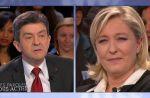 Zapping : Marine Le Pen refuse de débattre avec Jean-Luc Mélenchon sur France 2