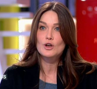 Carla Bruni-Sarkozy dans 'C à vous' sur France 5.