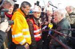 JDC-55 : Guy Bedos rend visite aux salariés d'ArcelorMittal de Florange