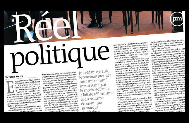 """""""Le Monde"""" daté du 16 mai 2012."""