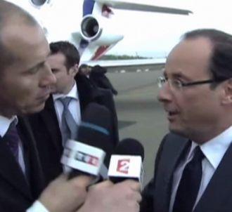 Bataille de micros entre TF1 et France 2 pour interroger...