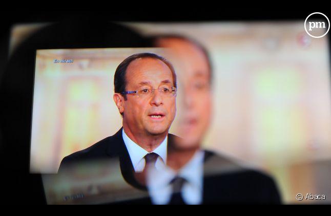 François Hollande, le 2 mai 2012 lors du débat face à Nicolas Sarkozy.