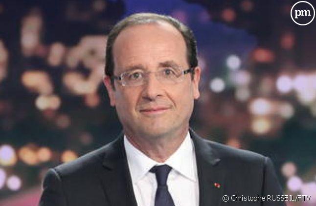 François Hollande, invité du JT de 20 heures de France 2 le 29 mai 2012.
