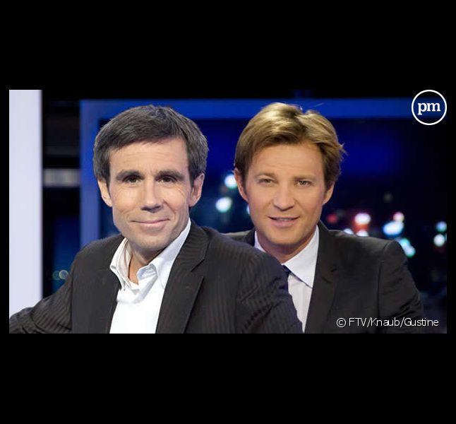 David Pujadas et Laurent Delahousse