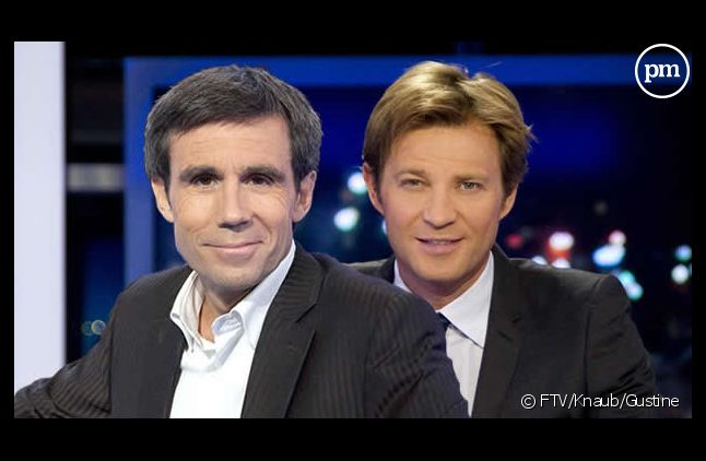 David Pujadas et Laurent Delahousse