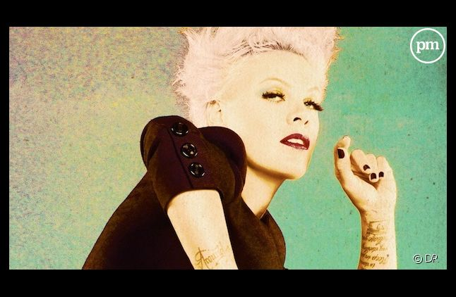 "Pink sur la pochette de son nouvel album, ""The Truth About Love"""