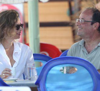 Valérie Trierweiler et François Hollande sur la plage de...