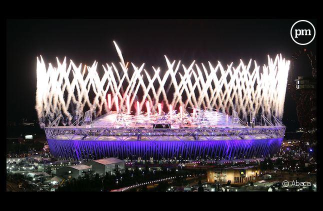 Feux d'artifice lors de la cérémonie d'ouverture des Jeux Olympiques de Londres