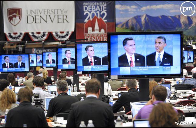Le débat entre Barack Obama et Mitt Romney.
