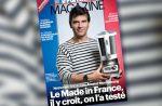 """Arnaud Montebourg pose en marinière pour vanter le """"made in France"""""""
