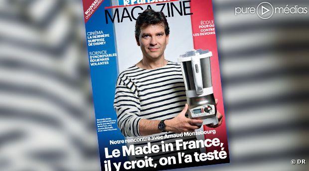 Arnaud Montebourg en marinière à la Une du Parisien magazine.