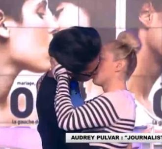 Audrey Pulvar embrasse Enora Malagré dans 'Touche pas à...