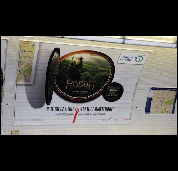 Campagne croisée RATP/The Hobbit.