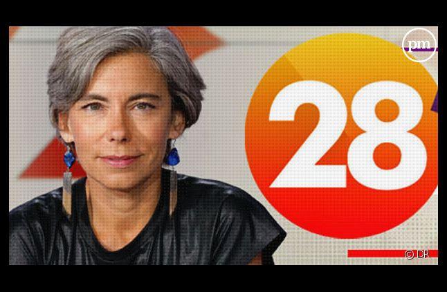 """Elisabeth Quin, à la tête du magazine quotidien """"28 minutes"""" sur Arte."""