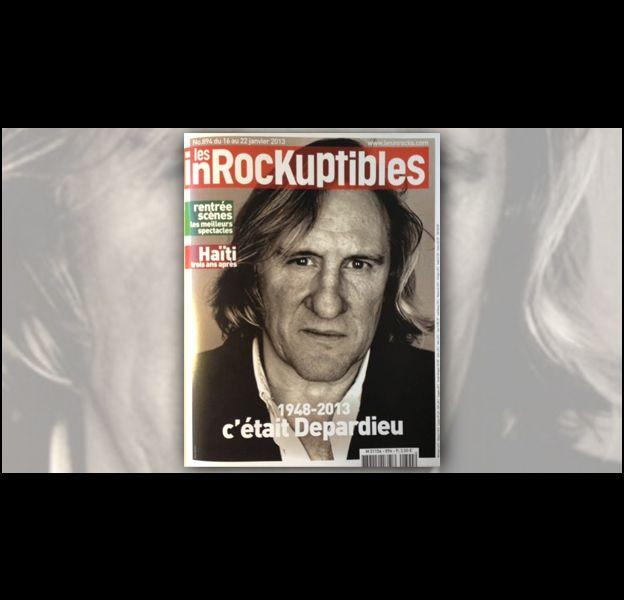 Les Inrocks enterrent Gérard Depardieu en Une