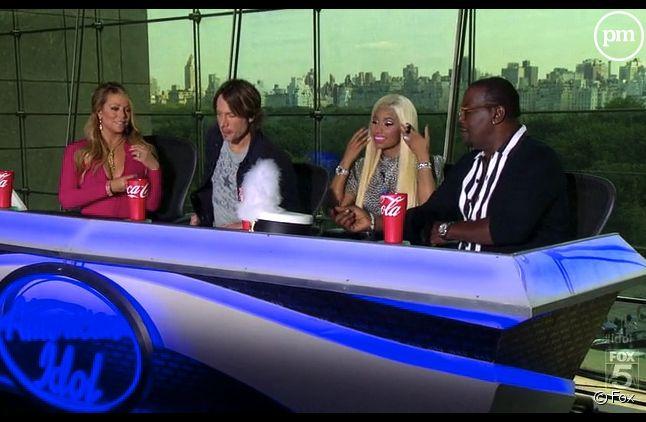"Le jury d'""American Idol"" saison 12 : Mariah Carey, Keith Urban, Nicki Minaj et Randy Jackson"