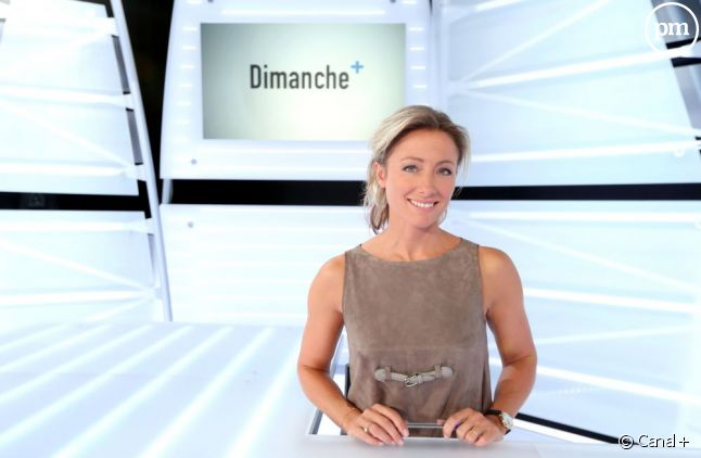 """Anne-Sophie Lapix, de """"Dimanche+""""."""