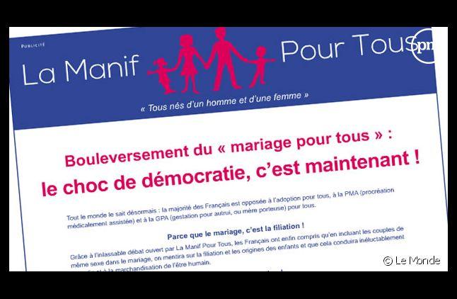 """La publicité """"Manif' pour tous"""""""