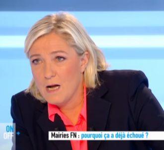 Marine Le Pen face à Anne-Sophie Lapix sur Canal=.