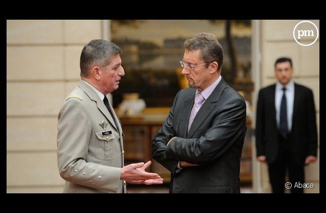 <span>A droite, Bernard Bajolet, le directeur de la DGSE.</span>