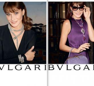 Carla Bruni, égérie publicitaire de Bulgari