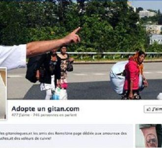 Capture d'écran de la page Facebook 'Adopte un gitan.com'