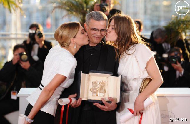 """L'équipe de """"La vie d'Adele"""", à Cannes en 2013."""