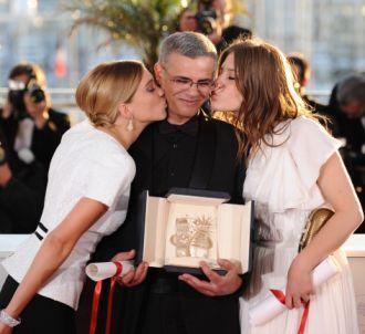 L'équipe de 'La vie d'Adele', à Cannes en 2013.
