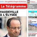 La Une du Télégramme, le 11 janvier 2014