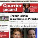 La Une du Courrier Picard, le 11 janvier 2014