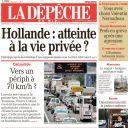 La Une de la Dépêche du Midi, le 11 janvier 2014