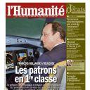 La Une de l'Humanité, le 11 janvier 2014
