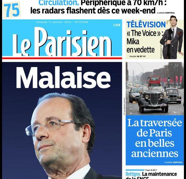 La Une du Parisien, le 11 janvier 2014