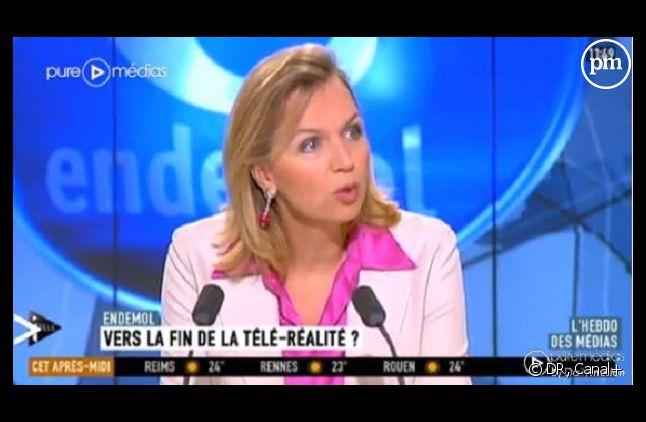 Virginie Calmels en 2012 sur un plateau de i-Télé